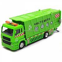 Машинка игровая автопром «Мусоровоз» (зеленый), 20х5х7 см (7824), фото 3