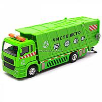 Машинка игровая автопром «Мусоровоз» (зеленый), 20х5х7 см (7824), фото 4