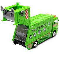 Машинка ігрова автопром «Сміттєвоз» (зелений), 20х5х7 см (7824), фото 5