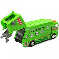 Машинка игровая автопром «Мусоровоз» (зеленый), 20х5х7 см (7824), фото 6