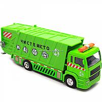 Машинка ігрова автопром «Сміттєвоз» (зелений), 20х5х7 см (7824), фото 7
