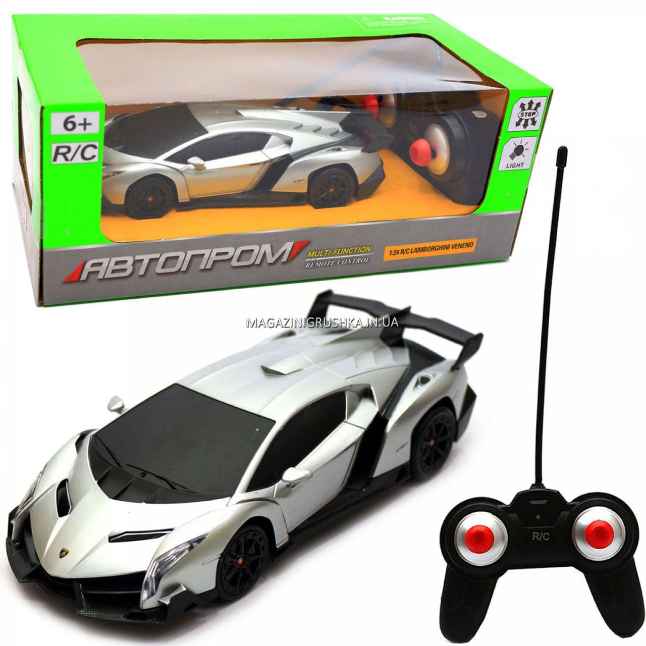 Машинка игровая автопром на радиоуправлении Lamborghini veneno (ламборджини) (8808)
