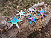 Набор звездочек шестиконечных хамелион  метательных 5 шт