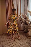 Женское платье красивое с принтом