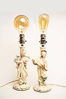 Вінтажні порцелянові настільні лампи Leviton