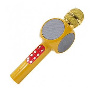 Безпровідний мікрофон караоке WS 1816 Жовтий, фото 2