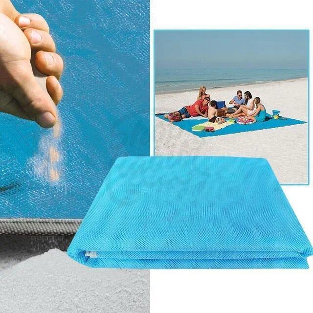 Анти-песок пляжная подстилка для моря Синий