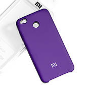 Silicone Case Premium на Xiaomi Redmi 4x Violet