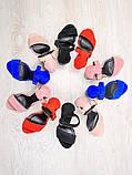 Босоножки женские на каблуке замшевые пудра с блестками, фото 5