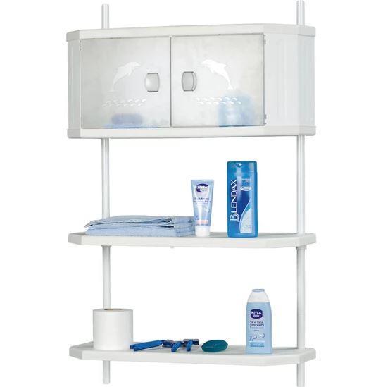 Полка для ванной DOGUS BANYO настенная белая код 630