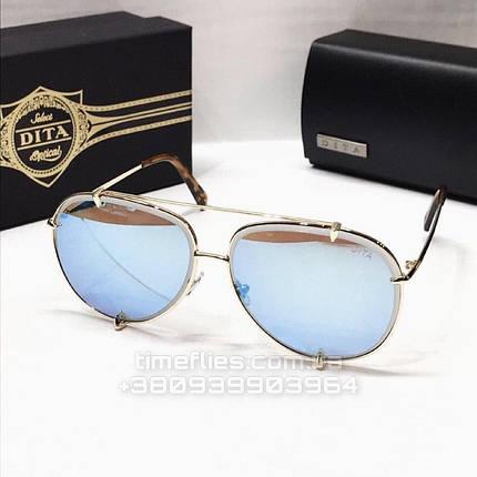 Женские солнцезащитные очки авиаторы Dita реплика голубые, фото 2