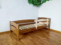 """Кровать детская из массива дерева с защитным бортикомот производителя""""Марта"""" (светлый дуб) 90х200, светлый Дуб"""