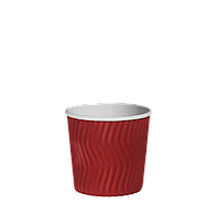 Одноразовий стакан гофрований, серія Червоний хвиля 110мл. 20шт/уп (1ящ/40уп/800шт), фото 1