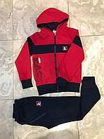 Спортивный Костюм FILA Кофта+Штаны, Красный 134,152 размер, Венгрия. Распродажа
