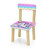 Детский деревянный столик и 2 стульчика  Единорог, 501-65, фото 3
