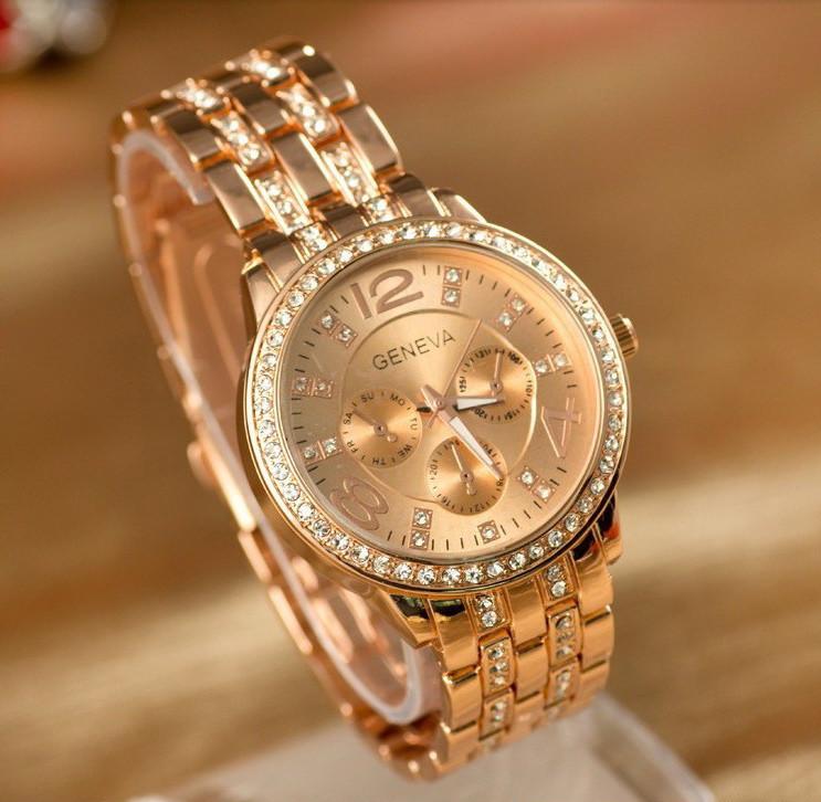Часы женские Geneva Paidu Swarowski 3 цвета
