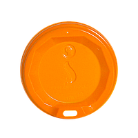 "Крышка пластиковая ""S"" КВ69 Оранжевая 50шт/уп (1ящ/60уп/3000шт) под стакан 175 мл., фото 1"
