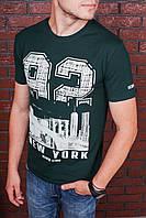 Футболка мужская зеленая с принтом. Мужская футболка с коротким рукавом.Футболка летняя. Чоловіча футболка