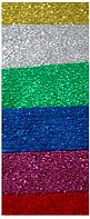 Набор креповой, рулонной бумаги, 100х50 см, 6 цветов, металлизированная
