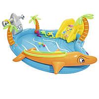 Надувной детский игровой центр бассейн Bestway 53067 «Морские жители» с шариками