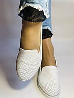 Женские туфли -балетки с перфорацией на утолщенной подошве. Натуральная кожа. 38-40. Супер комфорт.Vellena, фото 2