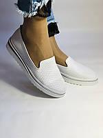 Женские туфли -балетки с перфорацией на утолщенной подошве. Натуральная кожа. 38-40. Супер комфорт.Vellena, фото 3
