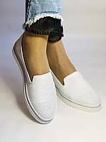 Женские туфли -балетки с перфорацией на утолщенной подошве. Натуральная кожа. 38-40. Супер комфорт.Vellena, фото 4