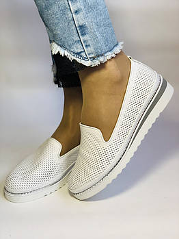 Женские туфли -балетки с перфорацией на утолщенной подошве. Натуральная кожа. 38-40. Супер комфорт.Vellena