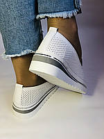 Женские туфли -балетки с перфорацией на утолщенной подошве. Натуральная кожа. 38-40. Супер комфорт.Vellena, фото 6