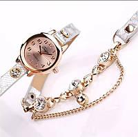 Часы браслет женские серебряные переливаются