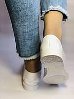 Женские летние туфли-балетки с перфорацией белого цвета. Размер 38.39 Турция., фото 3