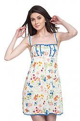 """Ночная рубашка LND 014/001 """"Деворе"""" с цветочным принтом ELLEN."""