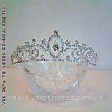 Діадема корона тіара під срібло з перлами, висота 4 див., фото 3