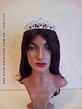 Діадема корона тіара під срібло з перлами, висота 4 див., фото 5