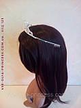 Діадема корона тіара під срібло з перлами, висота 4 див., фото 6