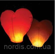 Небесный фонарик Сердце.10 шт.
