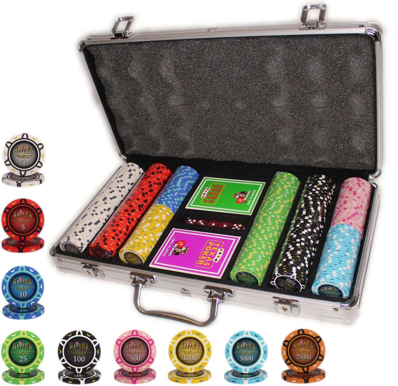 """Набор фишек для для игры в покер """"Havana 300"""""""