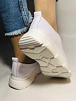 Жіночі кеди-кросівки білі з перфорацією на широку ногу. Розмір 36.37.38.40 Vellena, фото 7