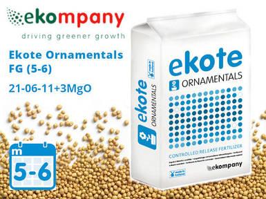 Удобрение Ekote Ornamentals FG 21-06-11+3MgO (5-6 месяцев) - 25 кг