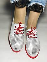 Evromoda. Стильные женские белые туфли мокасины с перфорацией Турция. Размеры 36.37.38.39.40 Vellena., фото 4