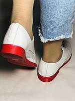 Evromoda. Стильные женские белые туфли мокасины с перфорацией Турция. Размеры 36.37.38.39.40 Vellena., фото 5