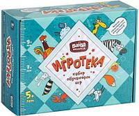 Настольная игра Банда умников Игротека 5+ (Этажики+Зверобуквы+Турбосчёт+Трафик Джем+подарочная коробка)