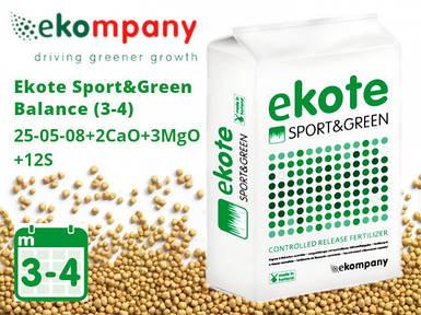 Удобрение Ekote Sport & Green Balance 25-05-08+2CaO+3MgO (3-4 месяца) - 25 кг