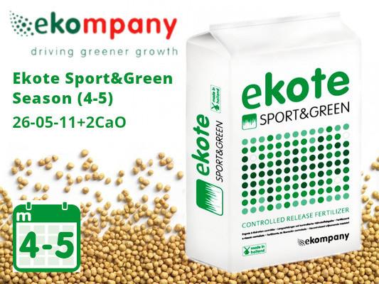Добриво Ekote Sport & Green Season (4-5 місяців) 6306FS, 25kg