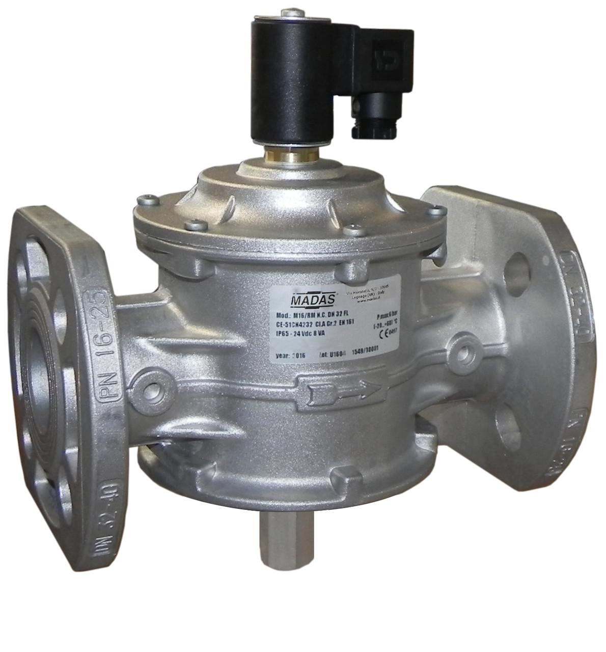 Электромагнитный клапан M16/RM N.C., DN50, фланцевый, 500 mbar (MADAS)