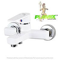 Пластиковый смеситель для ванной PLAMIX Oscar-009 White (без шланга и лейки)