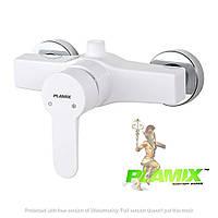 Пластиковый смеситель для душа PLAMIX Mario-003 White (без шланга и лейки)