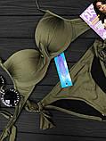 """Купальник раздельный """"Atlantic с плавками на завязках ,6цв, Р-р.36(42),38(44),40(46) Код 7064К, фото 4"""