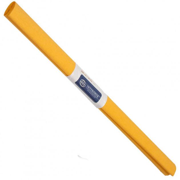 Бумага креповая, рулонная, 200х50 см, цвет светло-оранжевый