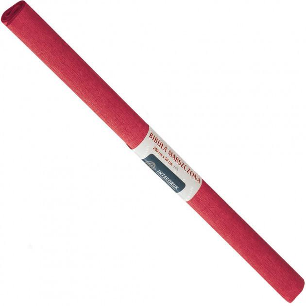 Бумага креповая, рулонная, 200х50 см, цвет красный